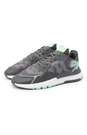 Мужские комбинированные кроссовки nite jogger ADIDAS ORIGINALS серого цвета, арт. FV1311 | Фото 1