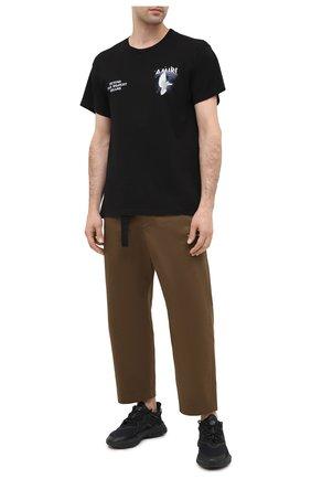 Мужские комбинированные кроссовки ozweego ADIDAS ORIGINALS черного цвета, арт. FV9665 | Фото 2