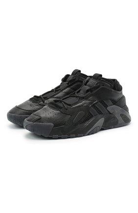 Мужские комбинированные кроссовки streetball ADIDAS ORIGINALS черного цвета, арт. EG8040 | Фото 1