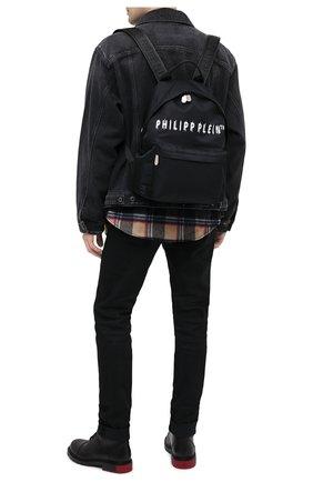 Мужской текстильный рюкзак PHILIPP PLEIN черного цвета, арт. F20A MBA0960 PLE111N | Фото 2