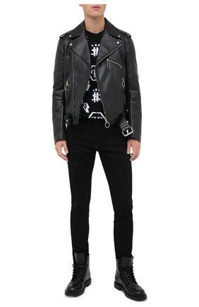 Мужские джинсы PHILIPP PLEIN черного цвета, арт. F20C MDT2237 PDE004N | Фото 2