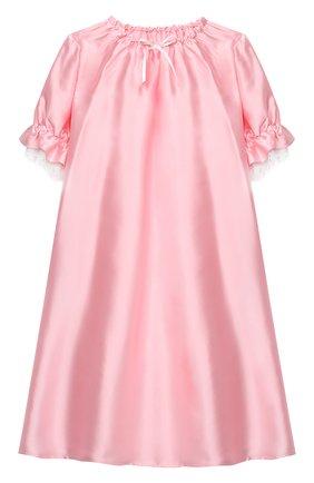 Детская шелковая сорочка AMIKI CHILDREN розового цвета, арт. L0RETTA | Фото 1