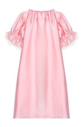 Детская шелковая сорочка AMIKI CHILDREN розового цвета, арт. L0RETTA | Фото 2