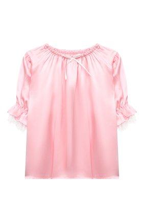 Детская шелковая пижама AMIKI CHILDREN розового цвета, арт. JUSTINE | Фото 2