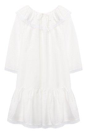 Детская хлопковая сорочка AMIKI CHILDREN белого цвета, арт. ELIZABETH/70SE30C0 | Фото 1