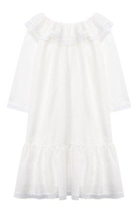 Детская хлопковая сорочка AMIKI CHILDREN белого цвета, арт. ELIZABETH/70SE30C0 | Фото 2
