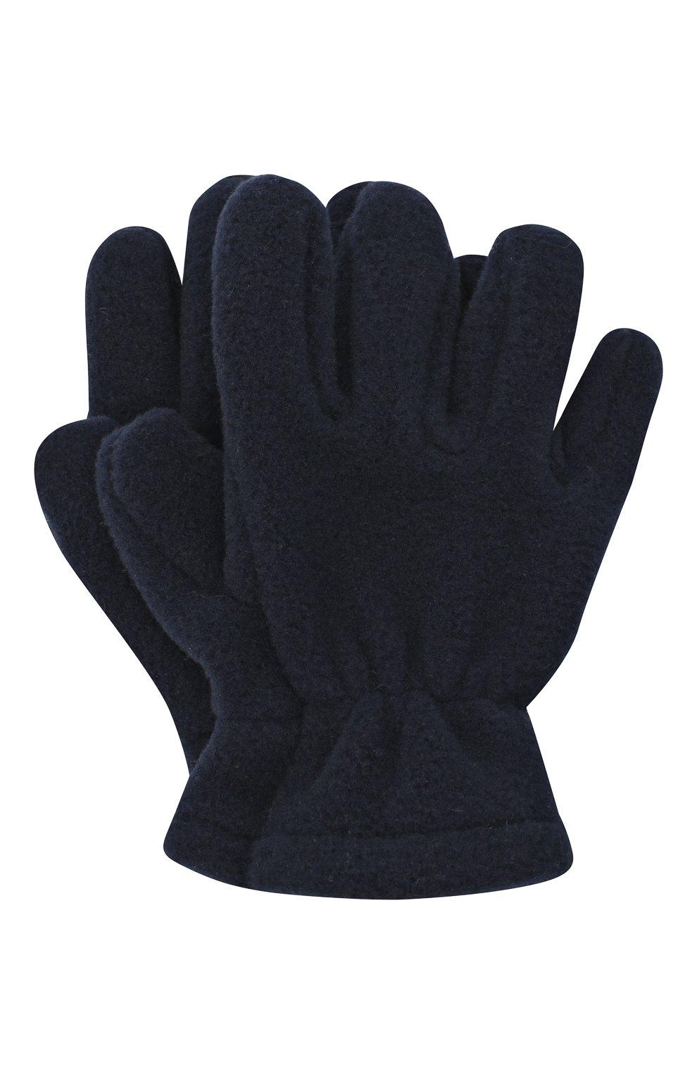Детские перчатки CATYA темно-синего цвета, арт. 024527 | Фото 1