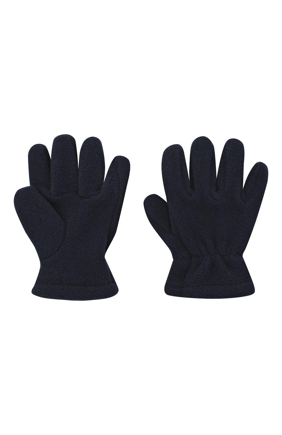 Детские перчатки CATYA темно-синего цвета, арт. 024527 | Фото 2