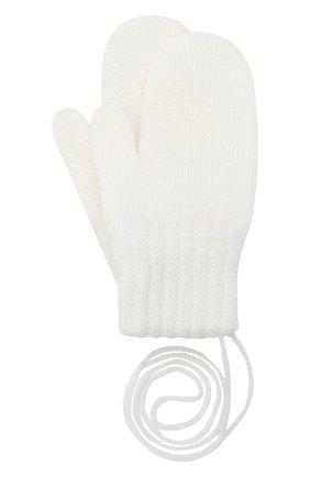 Детские шерстяные варежки CATYA белого цвета, арт. 024528 | Фото 1