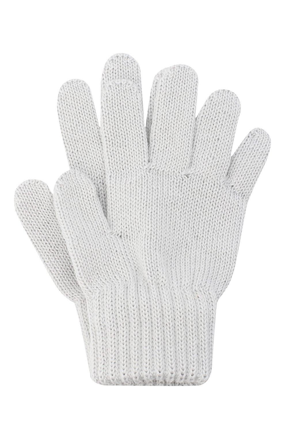 Детские шерстяные перчатки CATYA серого цвета, арт. 024529   Фото 1