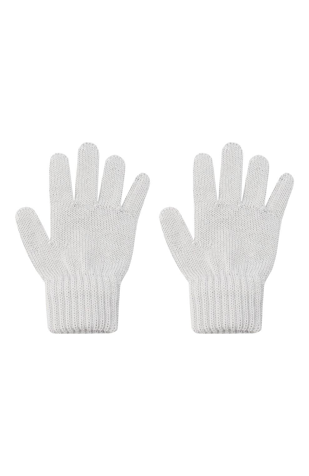 Детские шерстяные перчатки CATYA серого цвета, арт. 024529   Фото 2