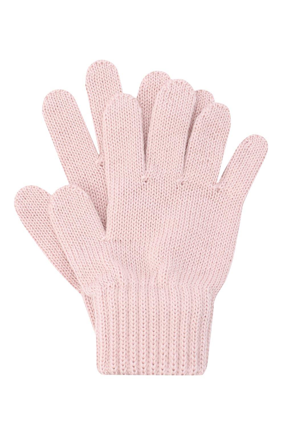 Детские шерстяные перчатки CATYA розового цвета, арт. 024529 | Фото 1