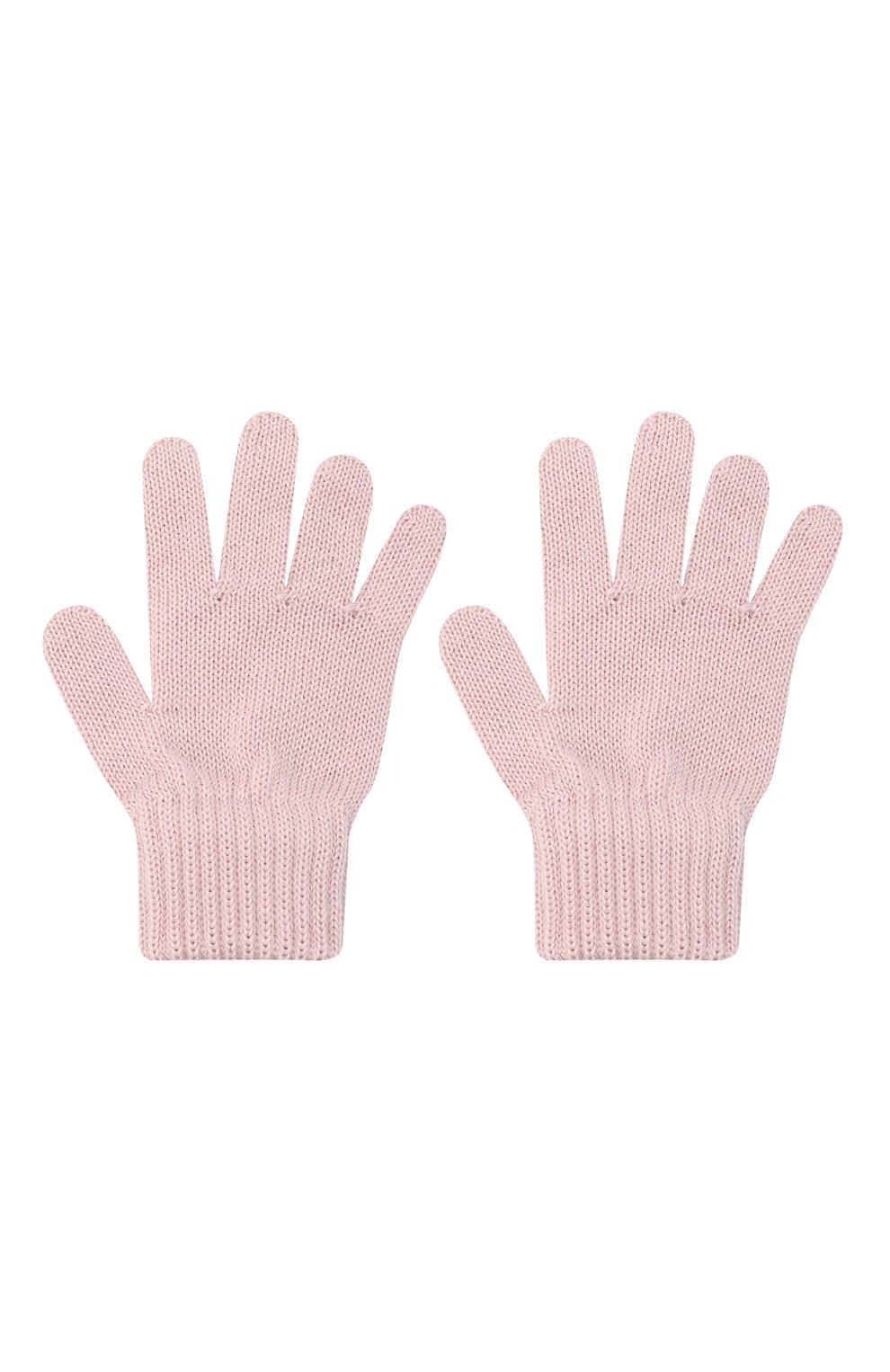 Детские шерстяные перчатки CATYA розового цвета, арт. 024529 | Фото 2