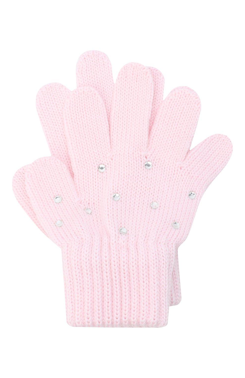 Детские шерстяные перчатки CATYA розового цвета, арт. 024530 | Фото 1