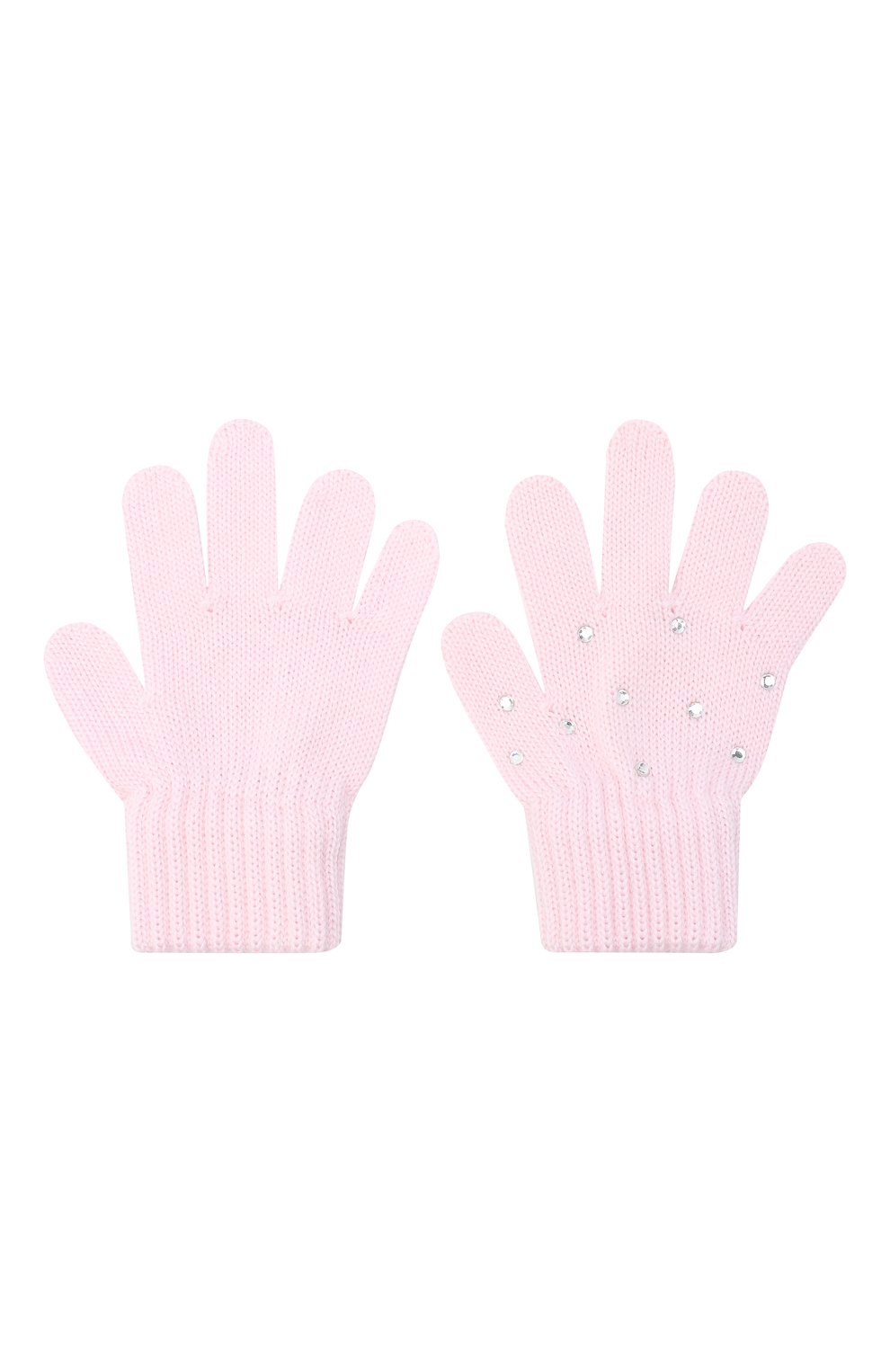 Детские шерстяные перчатки CATYA розового цвета, арт. 024530 | Фото 2