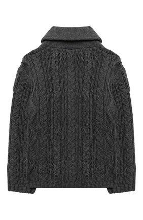 Детский хлопковый кардиган TARTINE ET CHOCOLAT темно-серого цвета, арт. TR18171/18M-3A | Фото 2