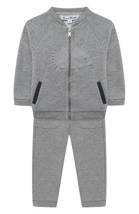 Детский комплект из толстовки и брюк TARTINE ET CHOCOLAT серого цвета, арт. TR35001/18M-3A | Фото 1