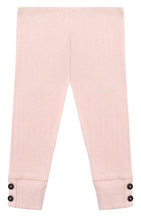 Детские брюки SANETTA светло-розового цвета, арт. 10107 | Фото 2