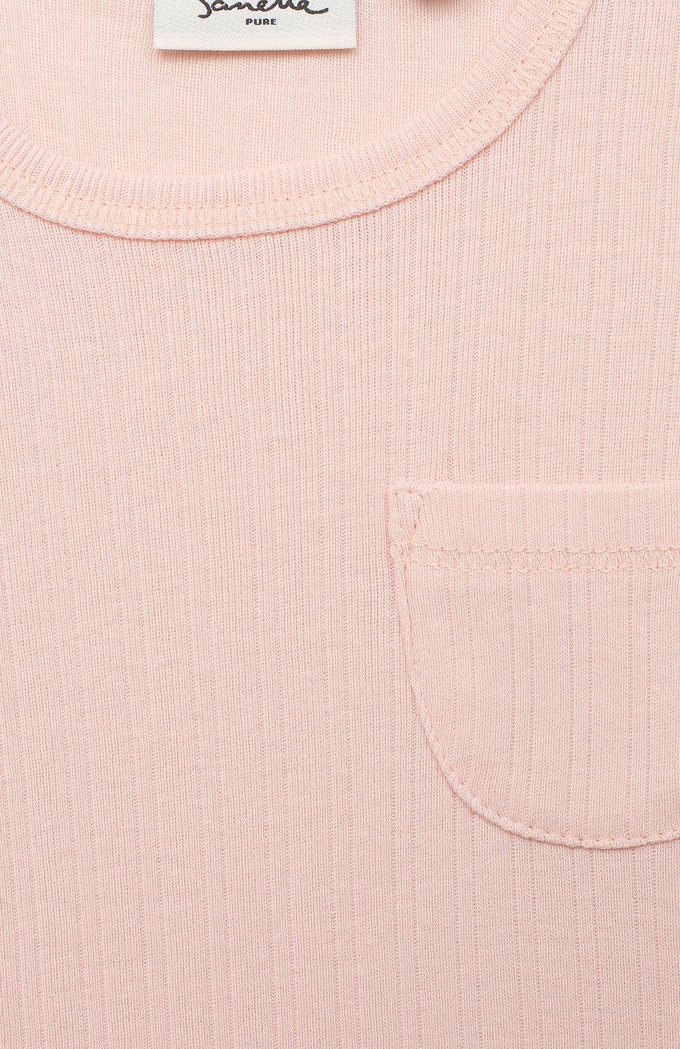 Детский хлопковый лонгслив SANETTA светло-розового цвета, арт. 10093 | Фото 3