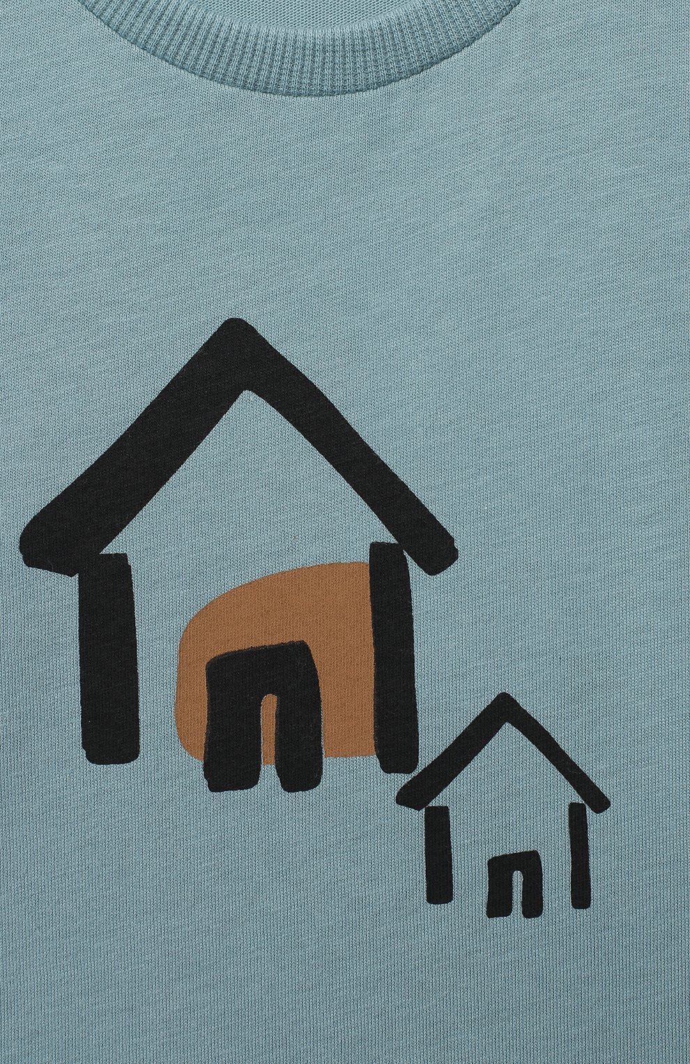 Детский хлопковый лонгслив SANETTA голубого цвета, арт. 10128 | Фото 3