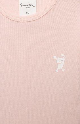 Детское хлопковое боди SANETTA светло-розового цвета, арт. 13048 | Фото 3