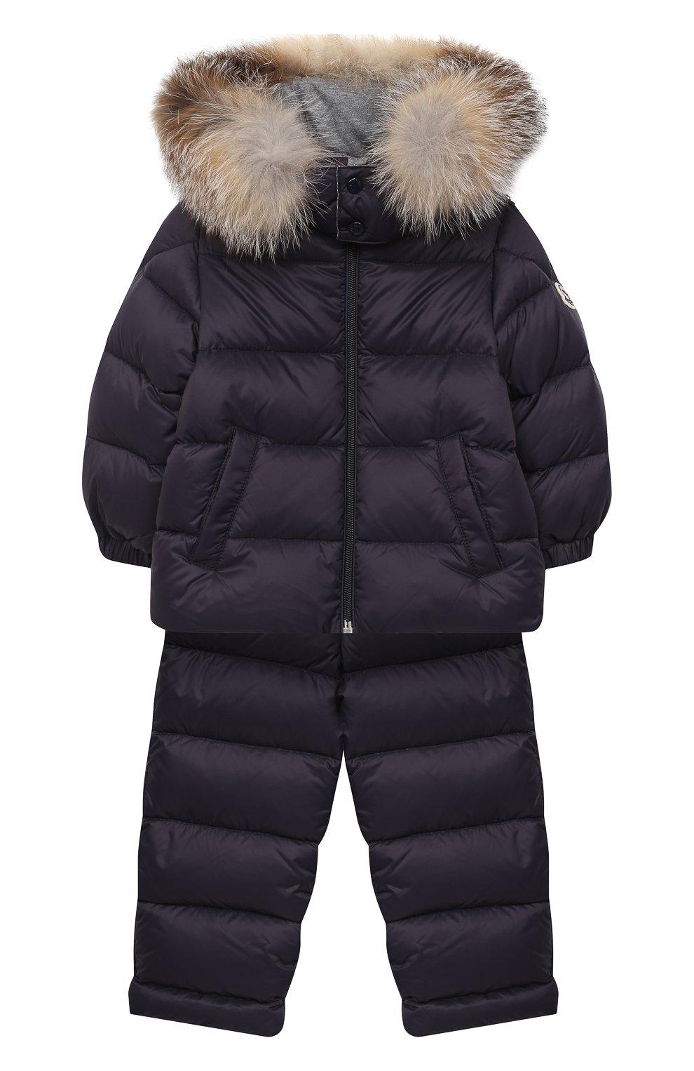 Детского комплект из куртки и брюк MONCLER темно-синего цвета, арт. F2-951-1F504-02-53079 | Фото 1