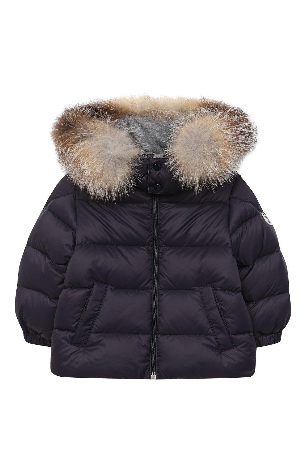 Детского комплект из куртки и брюк MONCLER темно-синего цвета, арт. F2-951-1F504-02-53079 | Фото 2