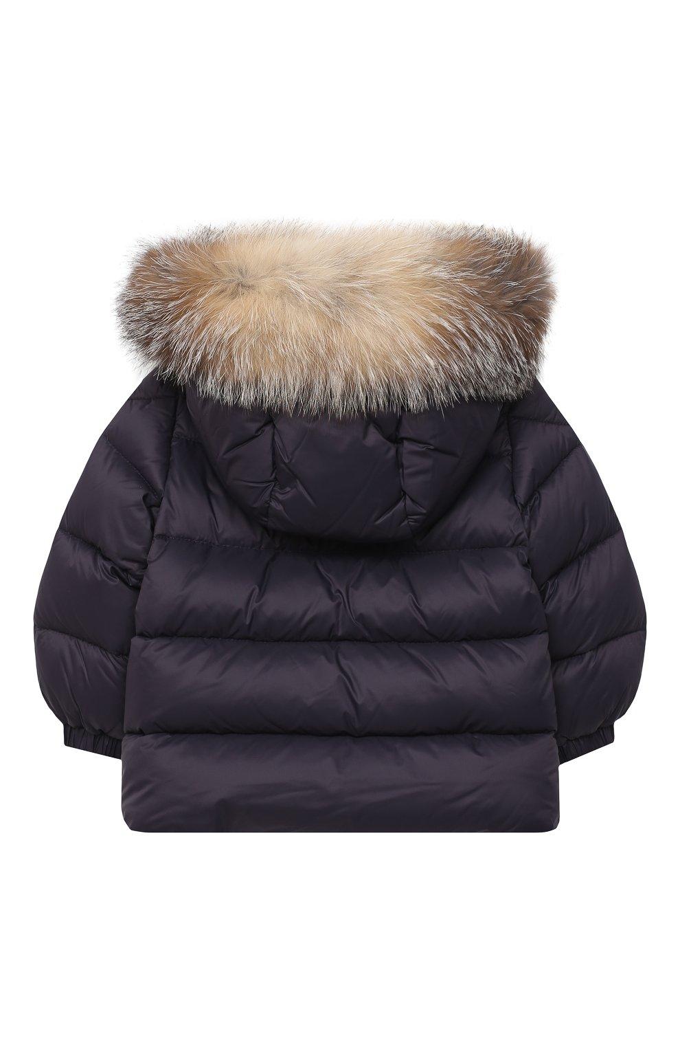 Детского комплект из куртки и брюк MONCLER темно-синего цвета, арт. F2-951-1F504-02-53079 | Фото 3