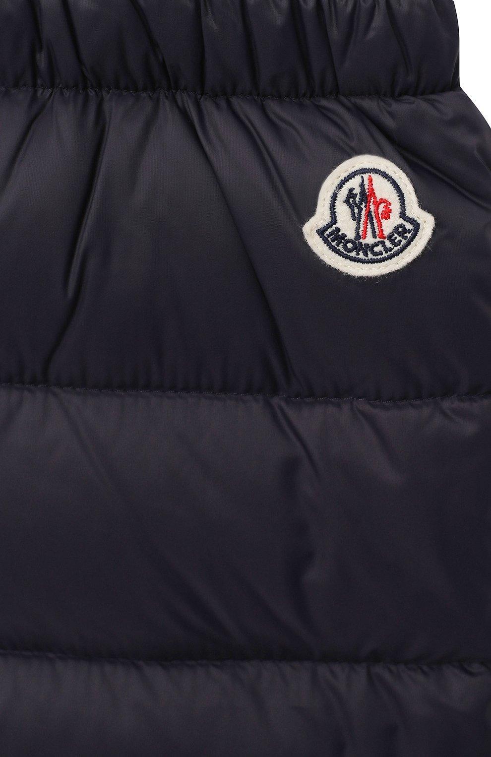 Детского комплект из куртки и брюк MONCLER темно-синего цвета, арт. F2-951-1F504-02-53079 | Фото 7