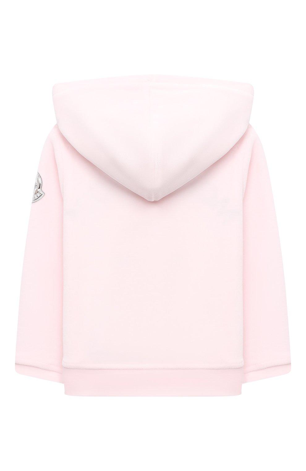 Детский комплект из толстовки и брюк MONCLER светло-розового цвета, арт. F2-951-8M732-10-8999Y | Фото 3