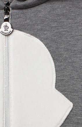 Детский хлопковая толстовка MONCLER серого цвета, арт. F2-951-8G705-10-809EH | Фото 3