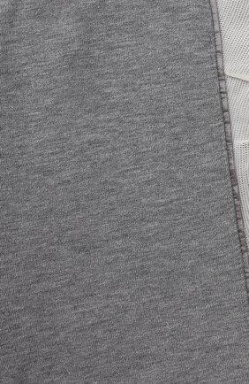 Детские хлопковые джоггеры MONCLER серого цвета, арт. F2-951-8H707-10-809EH | Фото 3