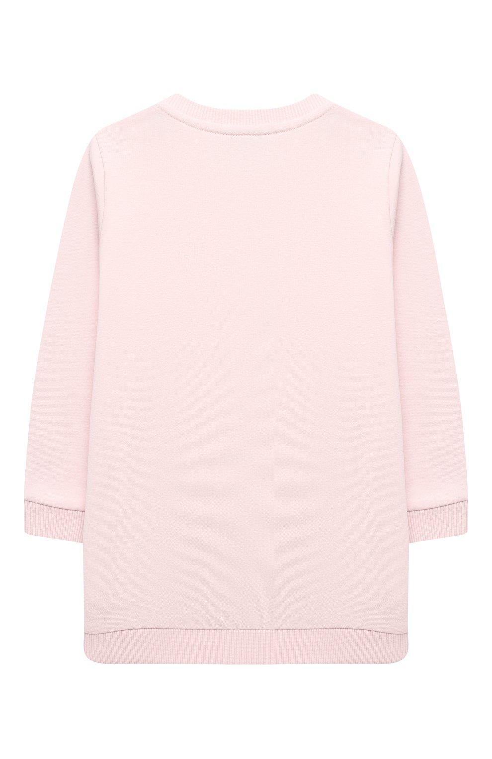 Детский комплект из свитшота и брюк MONCLER светло-розового цвета, арт. F2-951-8M726-10-809EH | Фото 3