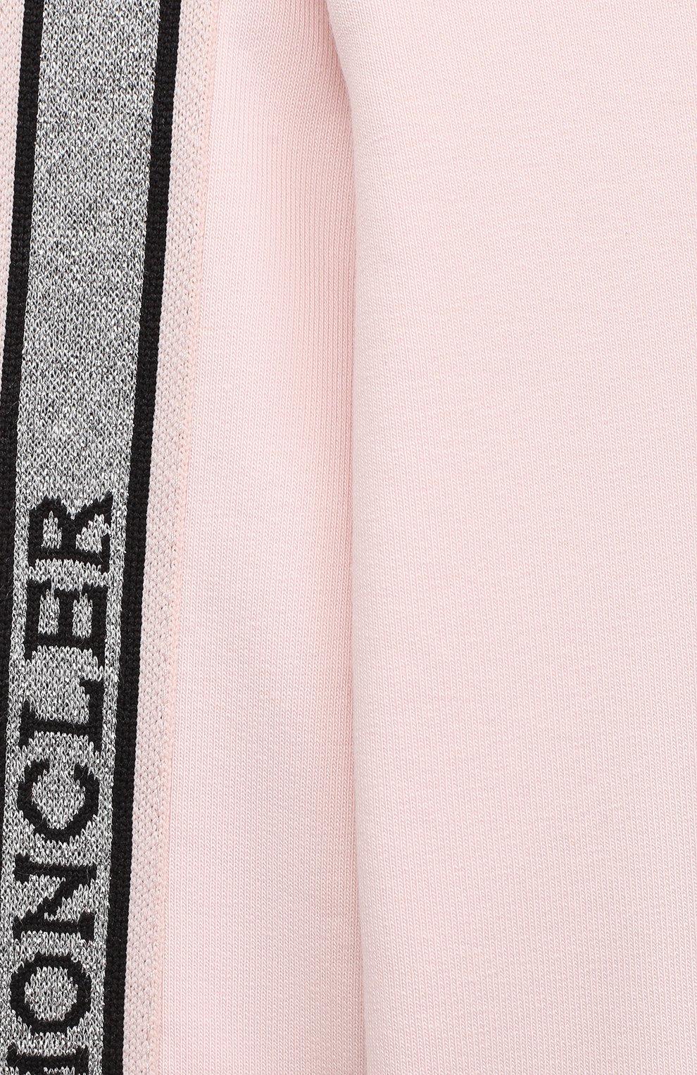 Детский комплект из свитшота и брюк MONCLER светло-розового цвета, арт. F2-951-8M726-10-809EH | Фото 4