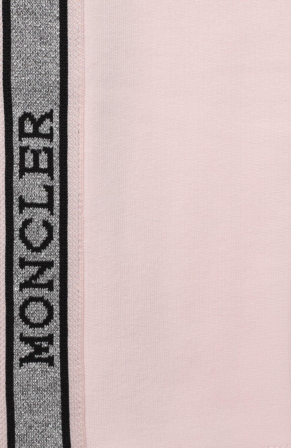 Детский комплект из свитшота и брюк MONCLER светло-розового цвета, арт. F2-951-8M726-10-809EH | Фото 7