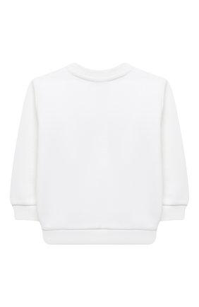 Детский хлопковый свитшот BALMAIN белого цвета, арт. 6N4840/NX300/12-36M | Фото 2