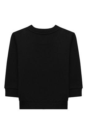 Детский хлопковый свитшот BALMAIN черного цвета, арт. 6N4840/NX300/12-36M | Фото 2