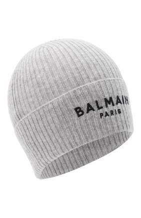 Детского кашемировая шапка BALMAIN серого цвета, арт. 6N0687/NE340 | Фото 1