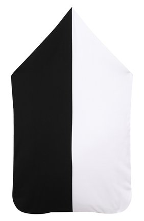 Детский хлопковый конверт BALMAIN черно-белого цвета, арт. 6N0910/NX690 | Фото 2