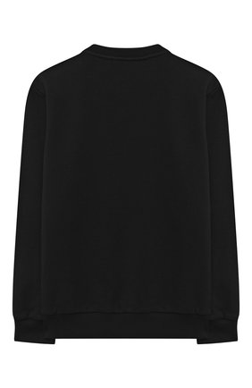 Детский хлопковый свитшот BALMAIN черного цвета, арт. 6N4040/NE060/4-10 | Фото 2