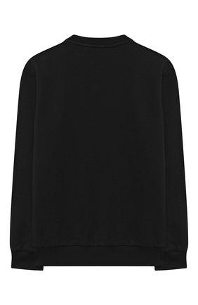Детский хлопковый свитшот BALMAIN черного цвета, арт. 6N4040/NE060/12-16 | Фото 2