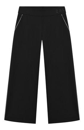 Детские шерстяные брюки BALMAIN черного цвета, арт. 6N6070/NB840/4-10 | Фото 1
