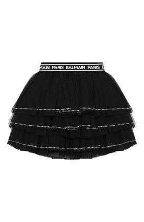 Детская юбка BALMAIN черного цвета, арт. 6N7050/NE530/4-10 | Фото 2