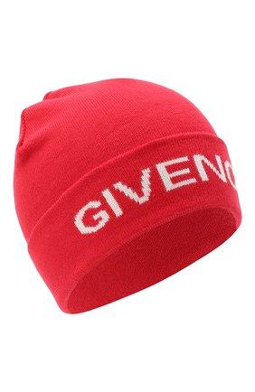 Детского шапка GIVENCHY красного цвета, арт. H21038 | Фото 1