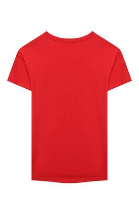 Детская хлопковая футболка GIVENCHY красного цвета, арт. H15185 | Фото 2