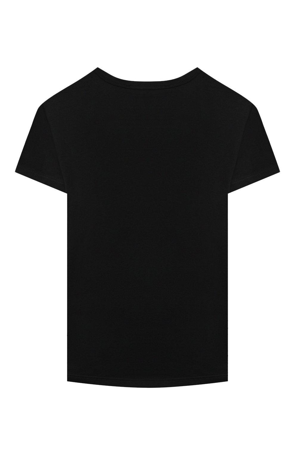 Детская хлопковая футболка GIVENCHY черного цвета, арт. H15185 | Фото 2