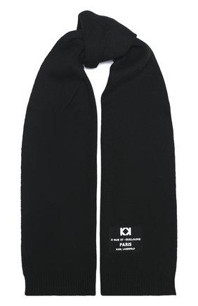 Детский шарф KARL LAGERFELD KIDS черного цвета, арт. Z21019 | Фото 1