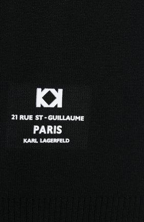 Детский шарф KARL LAGERFELD KIDS черного цвета, арт. Z21019 | Фото 2