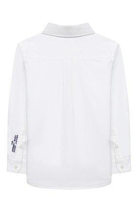 Детская хлопковая рубашка MARC JACOBS (THE) белого цвета, арт. W25429 | Фото 2 (Рукава: Длинные; Случай: Повседневный; Ростовка одежда: 2 года | 92 см, 3 года | 98 см, 4 года | 104 см, 5 лет | 110 см, 7 лет | 122 см)