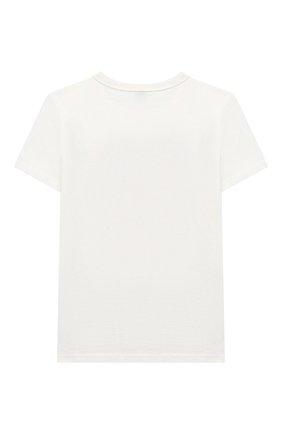 Детская хлопковая футболка MARC JACOBS (THE) белого цвета, арт. W15511   Фото 2